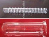 Tubo de vidrio de cuarzo helicoidal claro