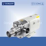 Pompe sanitaire de lobe de solides solubles 304 avec le moteur de la jupe 1450 t/mn ABB de la chaleur