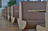 Cabina moderna del sofá del uso del restaurante