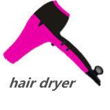 Sèche-cheveux professionnel neuf avec 2 gicleurs et boucles d'arrêt imprévu