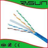 Câble de cuivre de réseau de l'usine 23AWG UTP CAT6 de câble