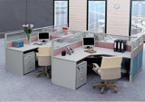 Moderne Auslegung-Aluminiumfeld-Glasbüro-Schreibtisch-Arbeitsplatz (SZ-WST612)