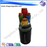 Conductor de cobre Low Voltage Electrical Power Cable com XLPE Insulation e PVC Sheath