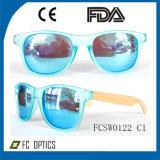Промотирование! Солнечные очки предварительного подчета деревянные Polished в объективе качества Голуб-Покрытия