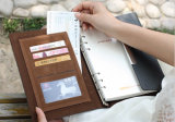 Loseblattnotizbuch mit magnetischem Schliessen, Notizbuch mit austauschbaren Seiten, Qualitäts-Geschäfts-Notizbuch