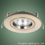 旧式なBrassはGU10/MR16 Lamp HolderのAluminum Recessed Downlightを停止するCast
