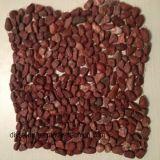 美化のための赤いマイクロ玉石の石のタイル