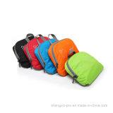 Saco de escola Foldable do saco do poliéster preto com dois ombros