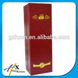 Boîte à vin enrubanneuse à papier à texture haute qualité avec fermeture magnétique ou à bijouterie