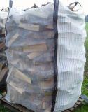 Due lati hanno arieggiato il fabbricato, sacco del jumbo della legna da ardere della maglia dei due lati