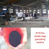 Gránulos plásticos de la película del PE de los PP de la etapa doble que hacen la granulación reciclando la máquina