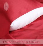 Funda de almohada de seda roja china de la nieve de Taihu para el uso del día de fiesta y de la boda