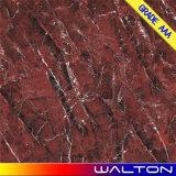Mattonelle di pavimento di ceramica di disegno di marmo rosso del Micro-Cristallo (WR-WD8015)