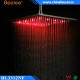 12-Inch pista de ducha aplicada con brocha níquel del techo del acero inoxidable LED