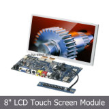 Tela sensível resistiva de 4 fios com módulo de exibição de painel LCD de 8 polegadas