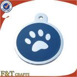 Etiqueta de perro Shaped del metal del último hueso encantador de calidad superior de la manera con el Keyring (FTDT2024A)