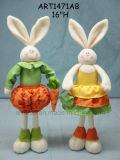 """15 """" mamma Rabbit di H Plait con Baby-2asst. - Decorazione di Pasqua"""