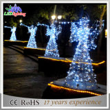 屋外3DモチーフLEDの通りのクリスマスの角度の装飾的なライト