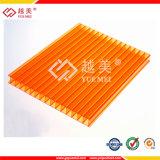 Feuille de PC de Jumeau-Mur/double feuille de cavité de polycarbonate de mur pour le matériau de construction