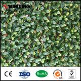 Сада экрана декора крен изгороди листьев зеленого цвета дешево искусственний с Ce SGS
