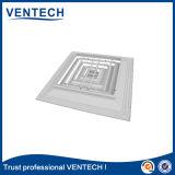 Difusor quadrado da maneira de alumínio do teto 4 para a ventilação