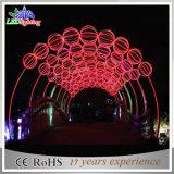 옥외 훈장 조경 꽃 장식적인 큰 아치 LED 3D 빛