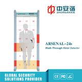 18 Zonen Hoch-Dezibel Warnungs-Ton-Lautsprecher-Weg durch Metalldetektoren mit LCD-Bildschirmanzeige