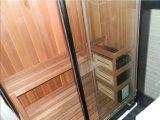 Caja lujosa de la ducha del gabinete del vapor del sitio de la sauna de Monalisa (M-8287)