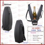 Carrier van de Wijn van het Leer van de nieuwigheid de Zwarte Duidelijke Enige Decoratieve (5040R2)