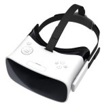 Todos en vidrios video androides de una realidad virtual de los vidrios 3D con la visualización principal del montaje
