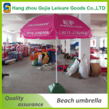 Großer im Freien kundenspezifischer faltender Sun-Strand-Regenschirm