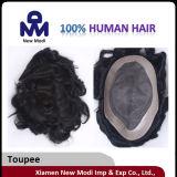 インドの人間の毛髪の人のToupee