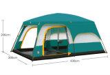 Tente campante extérieure à deux chambres, grande tente imperméable à l'eau multi-utilisatrice