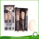 Las marcas de fábrica de los conjuntos de cepillo componen kits cosméticos del cepillo de las herramientas de la belleza del polvo de la fundación