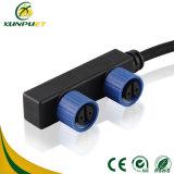 Conector impermeable del alambre auto de encargo IP67 del nilón PA6 para la lámpara de calle del LED