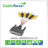 Conector circular moldeado en ángulo recto masculino del cable de M12 5pin con el enchufe del cable