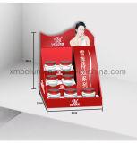 Impresión del estallido que hace publicidad del soporte de visualización de la cartulina del suelo para el cosmético