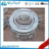 Vasilha de vidro do frasco do armazenamento por atacado da cozinha com tampa do grampo