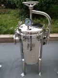 Boîtier multi de cartouche de filtre à manches de filtration Polished de l'eau d'acier inoxydable
