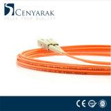 Sc au cordon de connexion duplex à plusieurs modes de fonctionnement de la fibre optique Om2 de FC