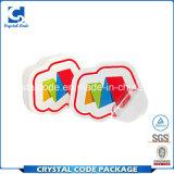 вполне ряд ярлыка стикера PVC спецификаций прозрачного