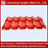 Feuille ondulée galvanisée enduite d'une première couche de peinture de toiture dans des tailles de propriétaire