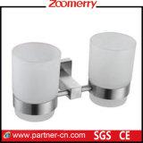 Aço inoxidável e Tumbler dobro de vidro da geada (06-3001)