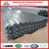 folhas de alumínio da telhadura do zinco de aço ondulado de 22gauge 28gauge