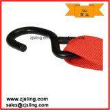 """2 de """" vermelho X 8 ' com a cinta da catraca do gancho da pressão do plano & do gancho de S"""