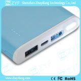 8000mAh de draagbare Bank van de Macht van de Haven USB van de Rechthoek van de Lader Dubbele met Flitslicht (ZYF8069)