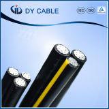 El alambre de arriba de la potencia de la transmisión alinea el cable triple aéreo del ABC de Cenia Runcina Tritón de la base del cable 3 del manojo