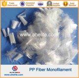 Fibra concreta del monofilamento del polipropileno del refuerzo de fibra