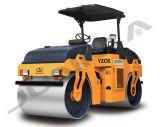 Rolo de estrada Vibratory do cilindro dobro mecânico de 6 toneladas (YZC6)