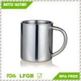 18-8 las tazas de café del acero inoxidable BPA liberan las tazas del té con la maneta 350ml
